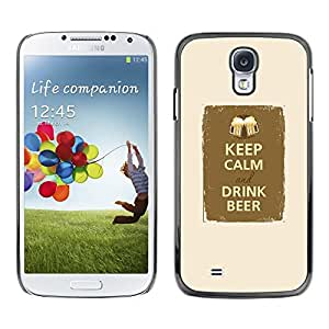 Plastic Shell Protective Case Cover || Samsung Galaxy S4 I9500 || Drink Beer Party Fraternity @XPTECH
