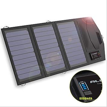 ZYG.GG 6000Mah Cargador Solar Teléfono con USB De Alta ...