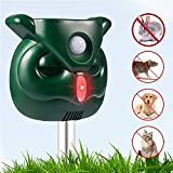 Shenlin Ultrasonic Animal Repeller, Solar Pest Repellent with Motion Sensor and Flashing Lights