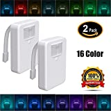 2 Pack Modern 16-Color Motion Sensor LED Toilet Light, Motion and Light Detection Sensor Review