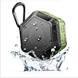 QAZWSX Outdoor Climbing Waterproof Bluetooth Speaker Water Proof Bluetooth Speaker IPX7 Water Proof Bluetooth Sound,Green
