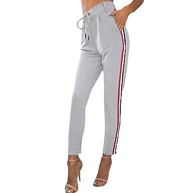 qualité authentique style roman profitez de la livraison gratuite Minetom Femme Leggings Été Pantalon De Sports Jogging Casual Sports Taille  Haute Trousers Mode Bande Casual Pants