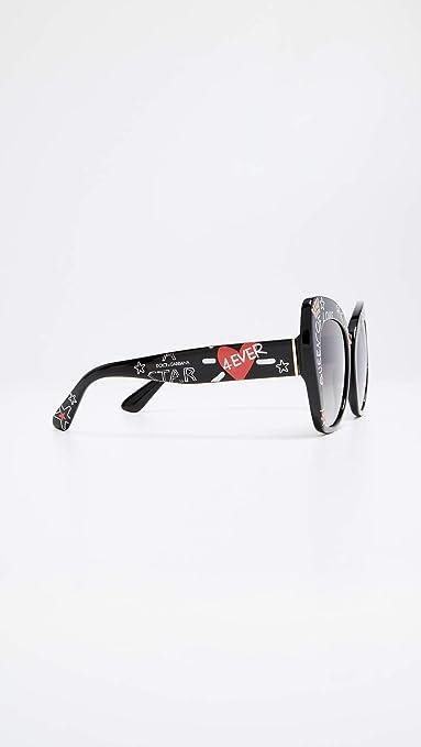 Dolce & Gabbana Womens Lace Ortensia Cat Sunglasses