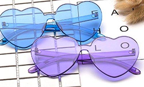 Forma Sol Gafas con corazón Mujer Color de de Azul para YLLY gRYqE