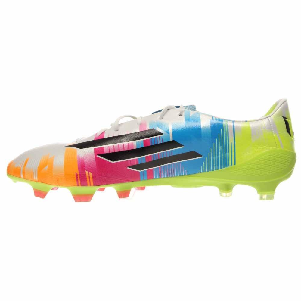 promo code 925bc f7e5c Amazon.com   adidas F50 adiZero TRX FG Messi Soccer Cleat - Running  White Black Solar Slime - Mens - 9.5   Soccer