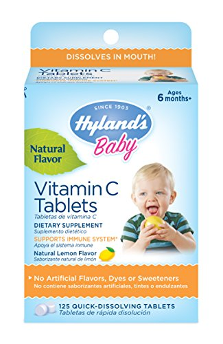 Hyland's Baby Vitamin C Tablets, Natural Dietary Supplement, 125 Count ()