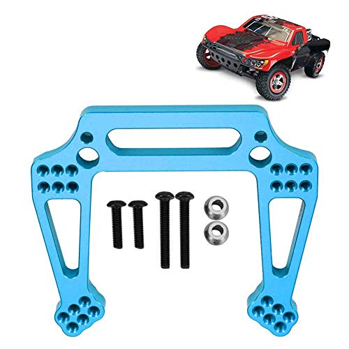 Dilwe RC Front Shock Absorber Tower 2WD Spare Part with Screw and Ball Head Fit for Traxxas Slash 1/10 Model Car Model (Light Blue)