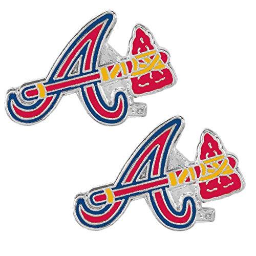 MLB Atlanta Braves Team Logo Post Earrings