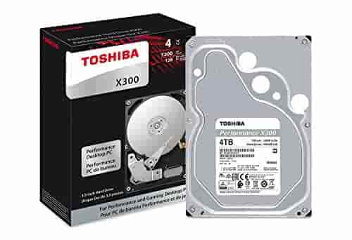 Toshiba X300 4TB Performance Desktop and Gaming Hard Drive 7200 RPM 128MB Cache SATA 6.0Gb/s 3.5 Inch Internal Hard Drive (HDWE140XZSTA)