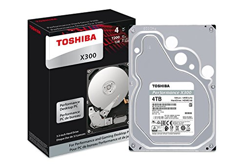 Toshiba 4TB Internal SATA Hard Drive for Desktops Black/Silver HDWE140XZSTA