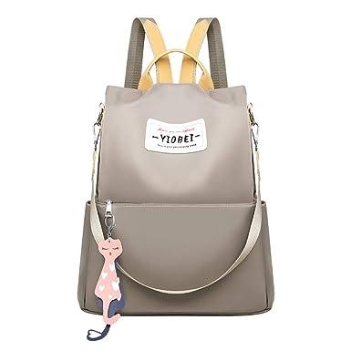 ♡♡Fannyfuny♡Mochilas Casual de Escolares para Mujeres Chicas y Niñas Gran Capacidad Casual Mochila de Diario Tela oxford Messenger Bag Backpack: ...