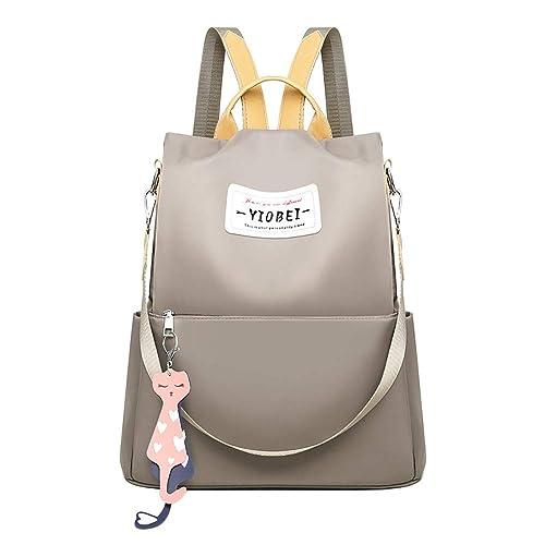 4c5e978c6d03b Ansenesna Schul Rucksäcke Damen Groß Elegant Taschen Outdoor Reise Freizeit  Backpack Für Mädchen Teenager (Grau