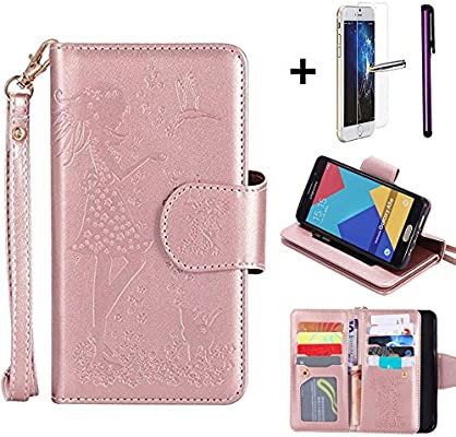 7bc03967346 Funda para Samsung Galaxy A5, con protector de pantalla de cristal templado  y lápiz capacitivo, de la marca Newstars, funda de plástico en el exterior  y ...