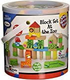 Small World Toys Ryan's Room Wooden Toys - At the Zoo Blocks 50 Pc. Set