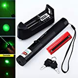 Laser High Power Green Laser Burning Laser Pointer Pen Beam + 18650 Battery + Charger