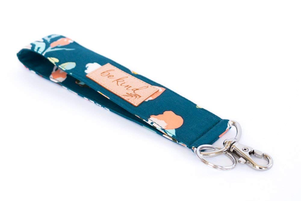 Wine Bottle Theme Wristlet Keychain Fabric Key Fob Key Chain Keychain Wristlet -Short Lanyard for Keys Wrist Lanyard