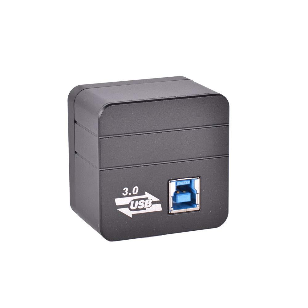 Desconocido Microscopio USB 3.0 para cámara CMOS, calibrador Digital, Montura en C, microscopio, cámara USB, Amplificador, inspección de Laboratorio PCB: ...