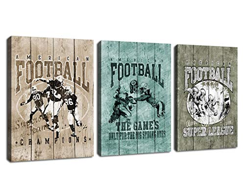 American Football Wall Art Modern Sports Canvas Picture Artwork Canvas Art Vintage Sports Champions Super League Contemporary Wall Art Prints for Home Decoration Office Wall Decor 12