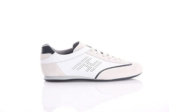 revendeur 83a4a f08f1 Hogan Olympia White in Leather, Homme, Taille 6.: Amazon.fr ...