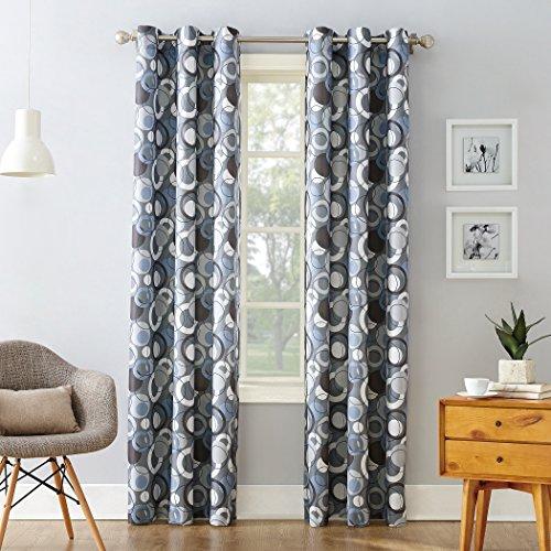"No. 918 Celestial Geometric Print Grommet Curtain Panel, 48"""