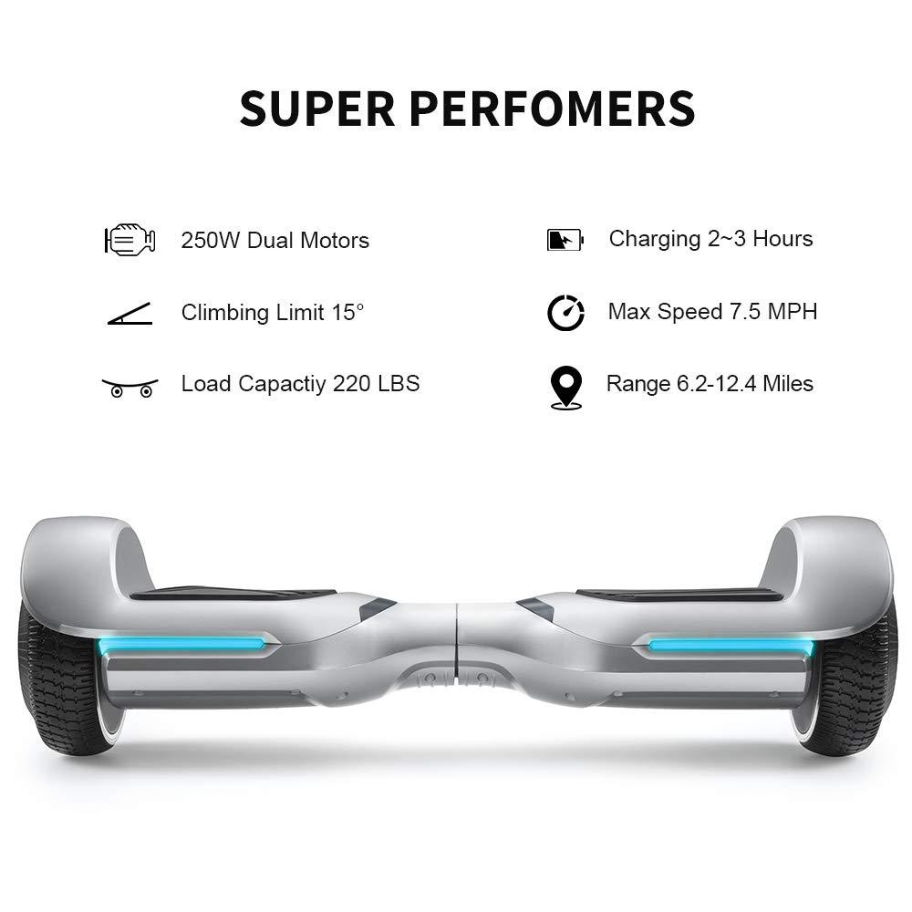 Amazon.com: Spadger Hoverboard con altavoces Bluetooth y ...