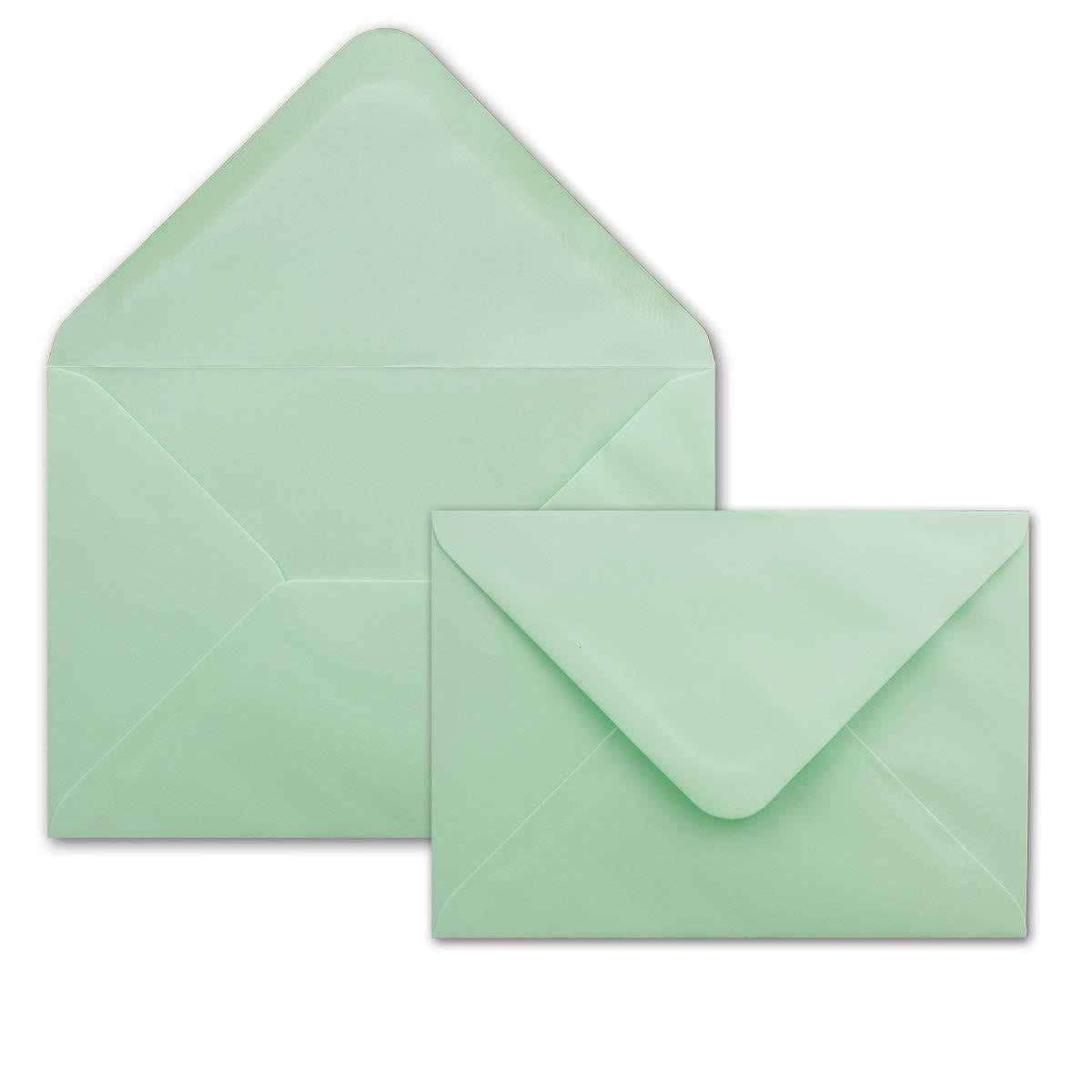 500 DIN DIN DIN C6 Briefumschläge Mintgrün - 11,4 x 16,2 cm - 80 g m² Nassklebung spitze Klappe - aus der Serie Colours-4-you - Glüxx-Agent B07PHYRZVP | Großer Verkauf  4a6b72