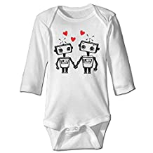 Robot Love Funny Geeky Valentines Day Infant Girls Onesie Clothes
