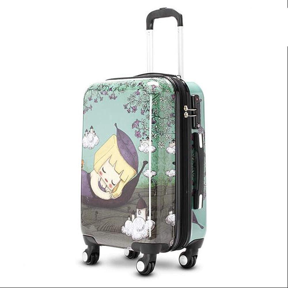 漫画トロリーケース20インチ子供パスワード荷物ミュートユニバーサルホイール搭乗スーツケース、TSA税関ロック、セキュリティ盗難防止   B07RKQ5VXY