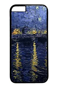 iphone 5C Case,Starry Night Over the Rhone9 Custom PC Hard Case Cover for iphone 5C inch Black