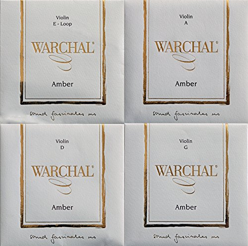 Warchal Amber Violin Strings Set 4/4. Loop end E