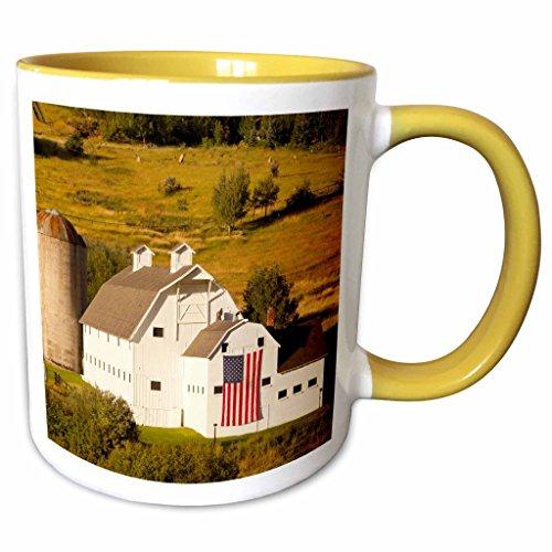 3dRose Danita Delimont - Barns - McPolin-Osguthorpe barn, Park City, Utah, USA - US45 BJN0005 - Brian Jannsen - 11oz Two-Tone Yellow Mug - Outlets Park City Utah