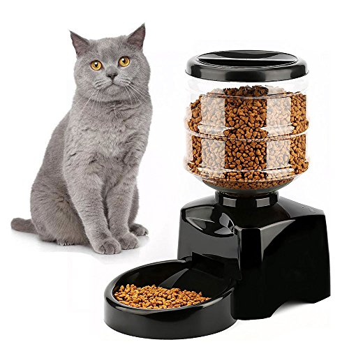 eTTgear Electric Pet Dry Food Dispenser Dog Large Automatic Pet Feeder Food Station Record Your Voice with LCD Display