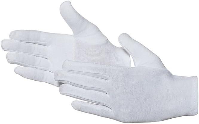 6 Jah 585 Baumwollhandschuh 12 Paar oekotex Standard verst/ärkt wei/ß Gr