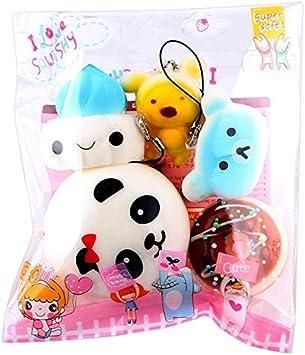 Kawaii Squishies, Mini Squishies Juguetes para Estrés Relevista Regalo Decoración.10pcs Medium Mini Soft Squishy Bread Toys Key LMMVP: Amazon.es: Electrónica