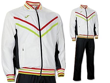 Chandal Tennis-Padel Terra Microfibra, Joma, Blanco-Gris: Amazon ...