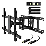 """TV Wall Mount Full Motion Fits 16"""", 18"""", 24"""" Wood Studs, Articulating Swivel TV Mount for Most 37-70 Inch LED, LCD, OLED, Flat Screen, Plasma TVs up to 132lbs, VESA 600x400mm by PERLESMITH"""