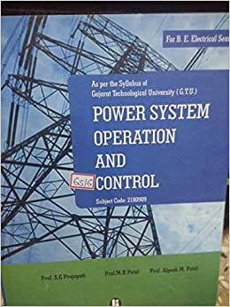Power System Operation And Control Book By Sivanagaraju