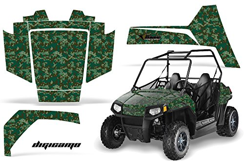 AMRRACING Polaris RZR 170 Youth All Years Full Custom UTV Graphics Decal Kit - Digicamo Green (170 Polaris Graphic Kits)