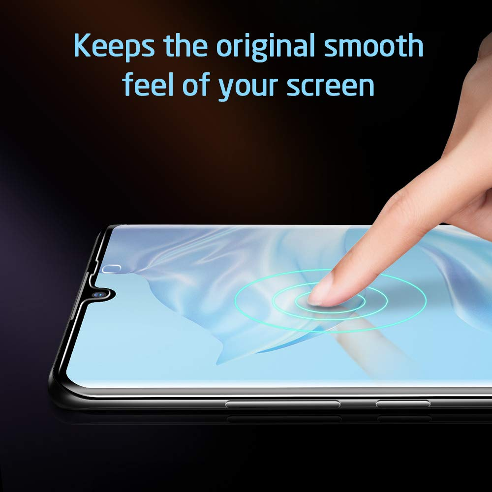 Protection Ecran Film en Verre Tremp/é Protecteur d/écran Ultra R/ésistant Indice Duret/é 9H pour Huawei P30 Pro Couverture Compl/ète ESR Verre tremp/é pour Huawei P30 Pro