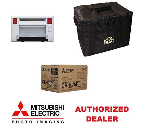 Mitsubishi CP-K60DW-S Photo Printer. Bundle with CK-K76R HG 4x6'' Paper & Ribbon Media Pack and our exclusive PRINTERBAG Padded Printer Carrying Case. Great for Photo Booth and Event Photography! by Mitsubishi Electric and Printerbag