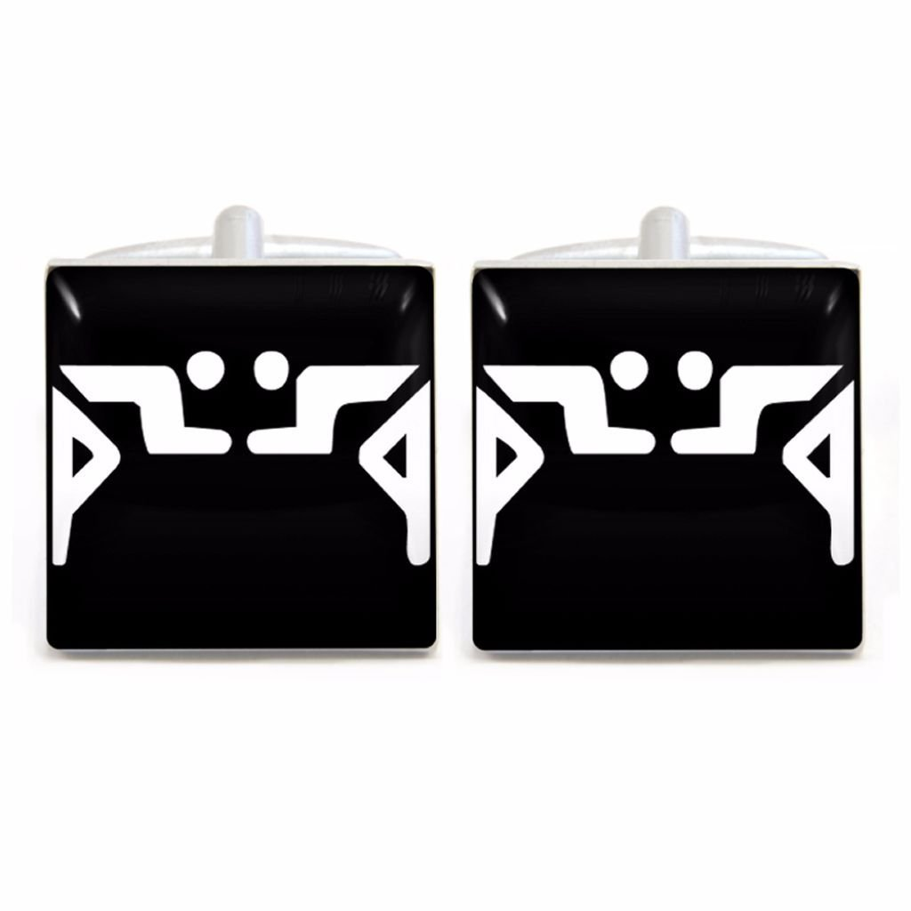 Athletic Event Cufflinks with Wrestling design