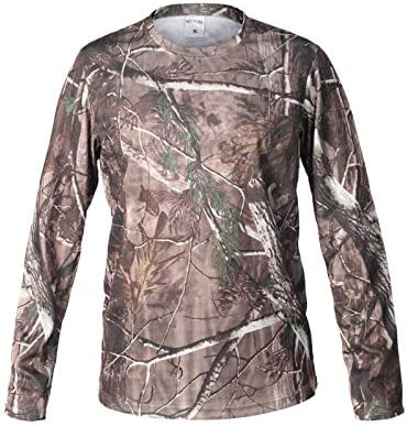 XBF-MICAI, Hombre Bionic Caza Camiseta de Secado rápido Transpirable Camisa de Camuflaje de Manga Larga para Hombres Senderismo Camiseta Militar táctica Ropa Tops (Color : SZ): Amazon.es: Hogar