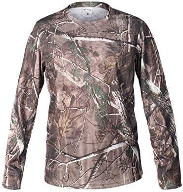 WQ-HUNTING, Hombre Bionic Caza Camiseta de Secado rápido Transpirable Camisa de Camuflaje de Manga Larga para Hombres Senderismo Camiseta Militar táctica Ropa Tops (Color : SZ): Amazon.es: Hogar