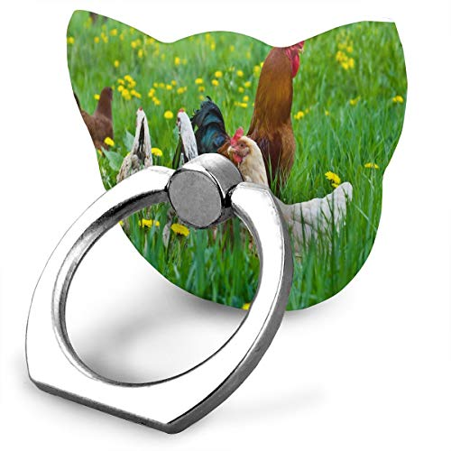 Great Customized Finger Ring Stand Fresh Pastured Chicken 360°Rotation Cell Phone Ring Stand Holder Grip Universal Smartphone Ring (Screen Reusable Protector Universal)