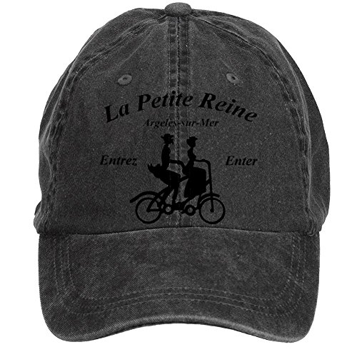Aiyle Bonee La Petite Reine Poster Adjustable Baseball Caps for Women Black One Size Adjustable Rein
