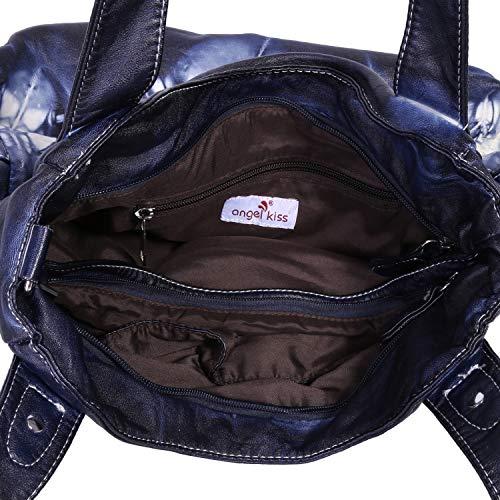 Size 1 Medium Bag Bleu3 Shoulder Women 5739 Angelkiss wX7qvz4