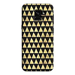 Cover It Up - Gold Black Triangle Tile Galaxy A5 2018 Hard Case