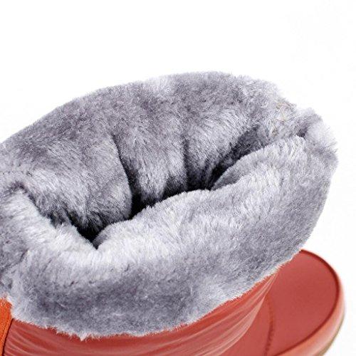 Neige de pour Neige Filles de Femelles d'hiver Orange aux Bottes amp;Q de Q Bottes imperméables Neige Hiver d'hiver Bottes QIAOShoe Femmes wFZIBq1B