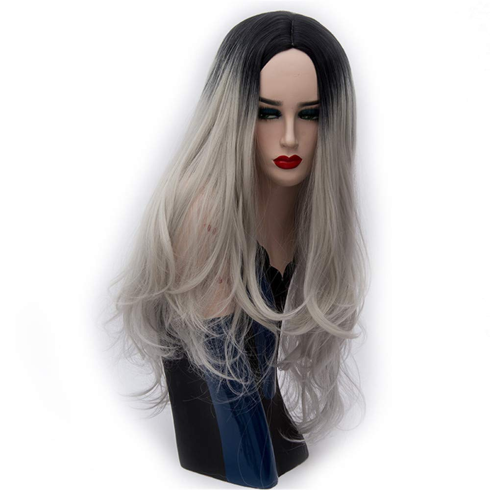 LONGLOVE European and American Wigs, European and American Fashion Wigs, Medium Dyed Large Scalp, Long Curly Hair (13)