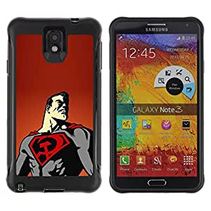 SHIMIN CAO@ Superhero Flying Cape Art Poster Drawing Rugged Hybrid Armor Slim Protection Case Cover Shell For Note 3 Case ,N9000 Leather Case ,Leather for Note 3 ,Case for Note 3 ,Note 3 case